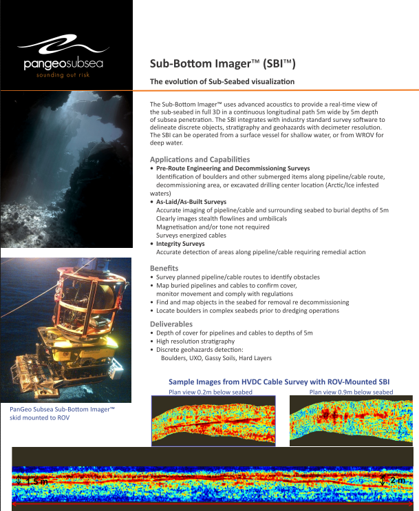 SBI Technical Specifications Document updated | Pangeo Subsea